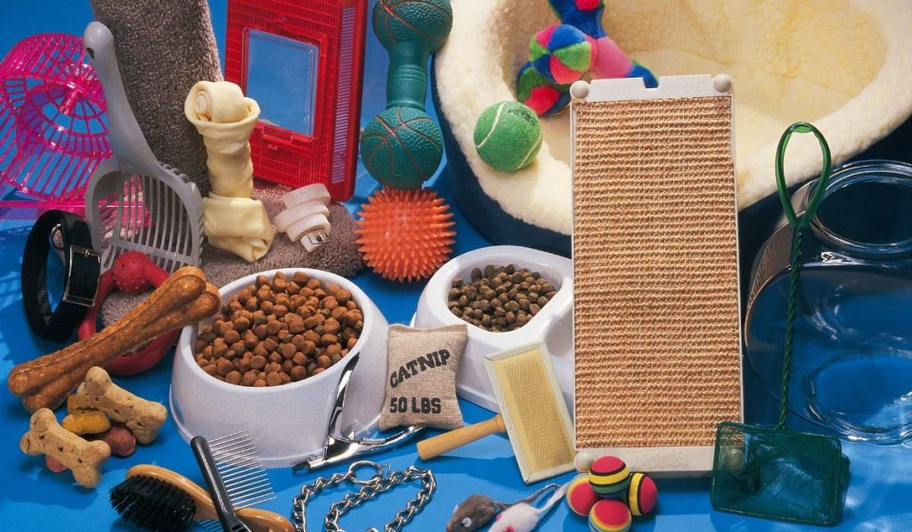assorted pet accessories